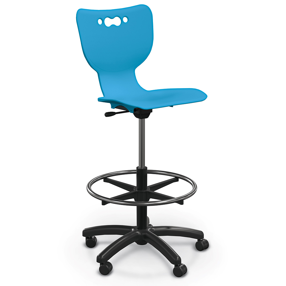 MooreCo® Hierarchy Stool - 5 Star Base with Casters