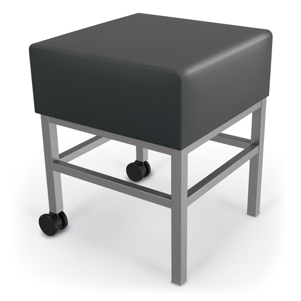 MooreCo®  Mobile Soft Seating Stool - Synthetic Leather
