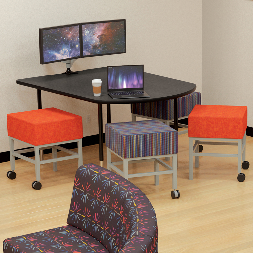 MooreCo®  Mobile Soft Seating Stools