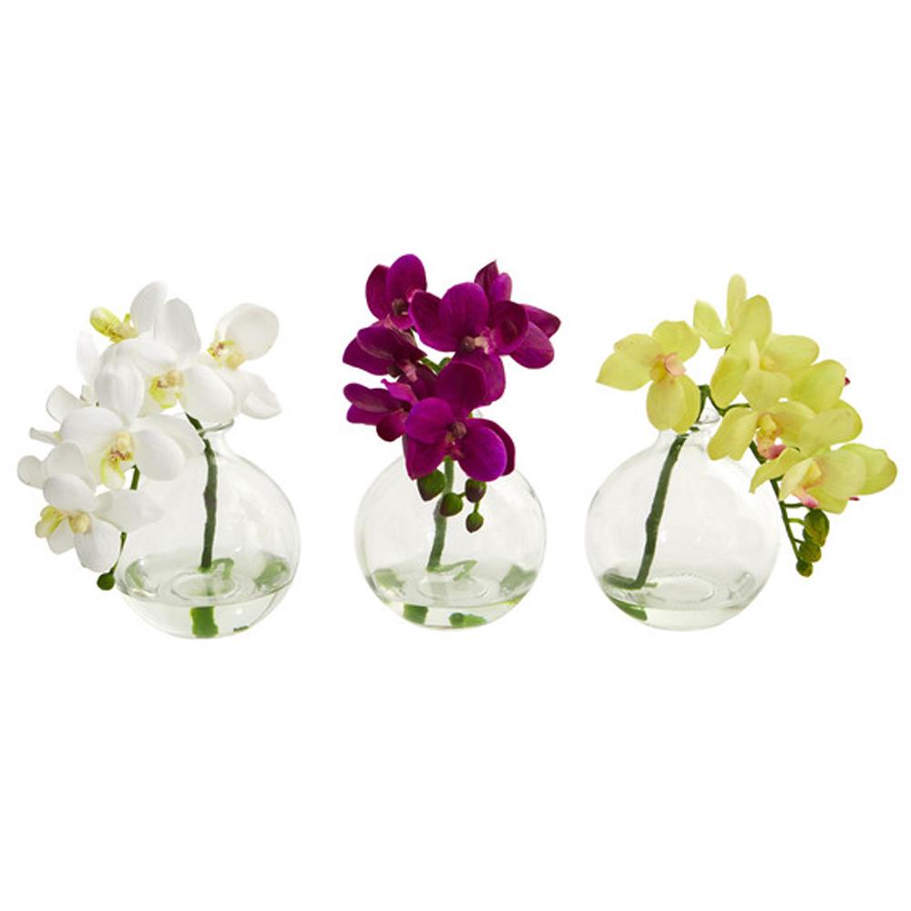 Phalanenopsis Orchid Silk Arrangement, Set of 3