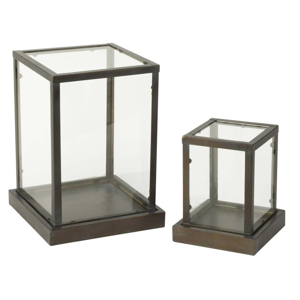 Glass Display Cases - Set of 2