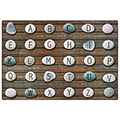 Pixel Perfect™ Collection Alphabet Stone Seating Rug - 6 ft. x 9 ft.