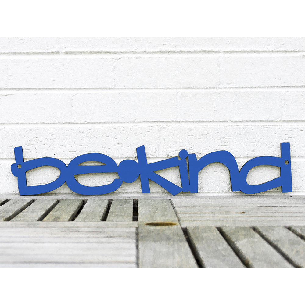 Spunky Fluff™  Hand-Painted Large Wood Sign - be*kind