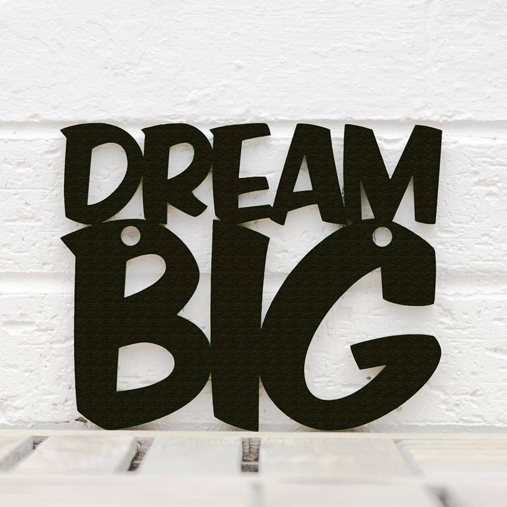 Spunky Fluff™  Hand-Painted Large Wood Sign - Dream Big