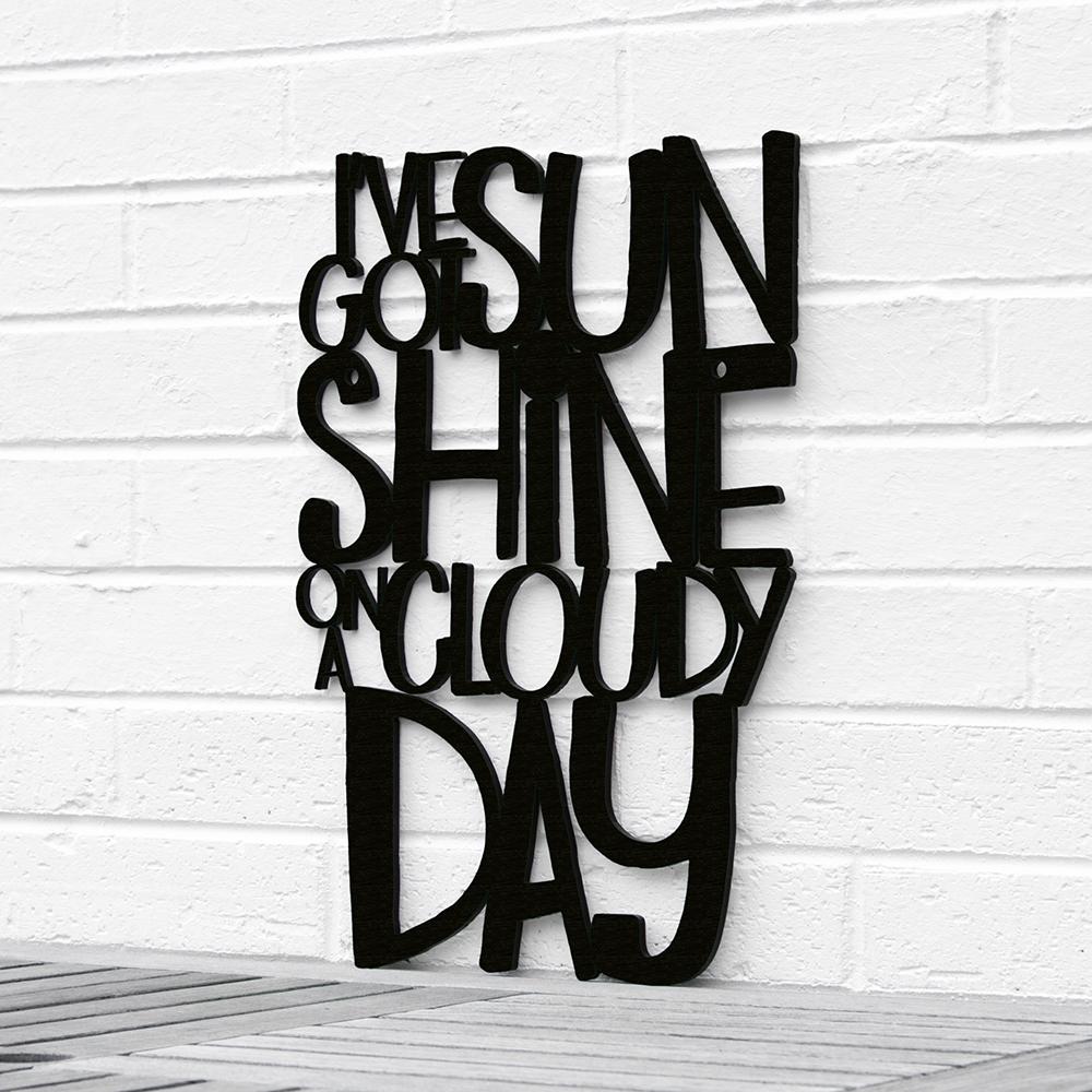Spunky Fluff™ Hand-Painted Large Wood Sign - I've Got Sunshine