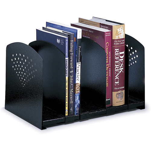 5 Section Adjustable Steel Book Rack
