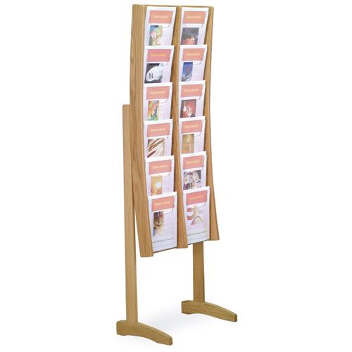 Wooden Mallet Oak Magazine Floor Rack