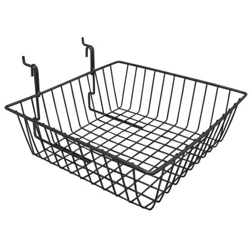 "Wire Slatwall Basket - 3""H x 15""W x 12""D"