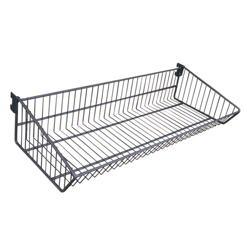 "Wire Slatwall Slanted Basket - 5""H x 24""W x 10""D"