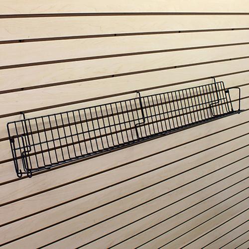 """Wire Angled Slatwall Shelf - 48""""W x 3""""D"""