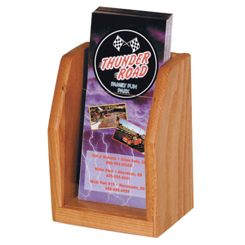 Wooden Mallet Oak and Acrylic Countertop Display - 1 Pocket Pamphlet
