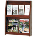 Wooden Mallet Slope™ Oak Literature Display - 8/Pocket- 24-1/2