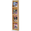 Wooden Mallet Slope™ Oak Literature Display - 8/Pockets - 49