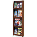 Wooden Mallet Slope™ Oak Literature Display - 12/Pockets - 49