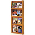 Wooden Mallet Slope™ Oak Literature Display - 16/Pockets - 49