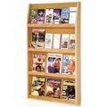 Wooden Mallet Slope™ Oak Literature Display - 24/Pockets - 49