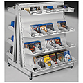 estey® Mobile A-Frame Multi-Media Display Shelving - 45