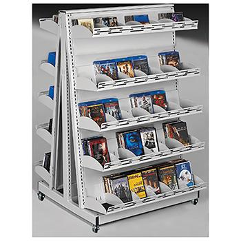 estey® Mobile A-Frame Multi-Media Display Shelving - 57