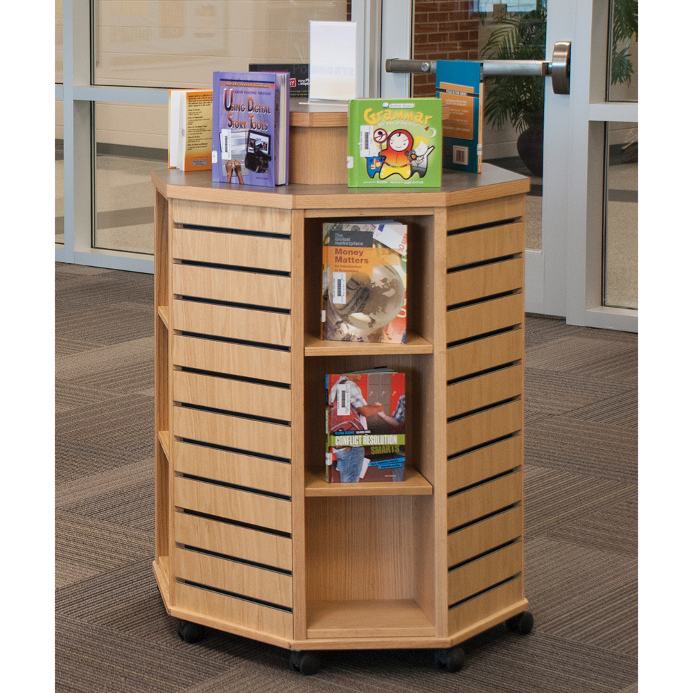 Russwood® Slatwall Mobile Display Unit - With Riser