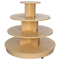4/Tier Mobile Display Table - Round