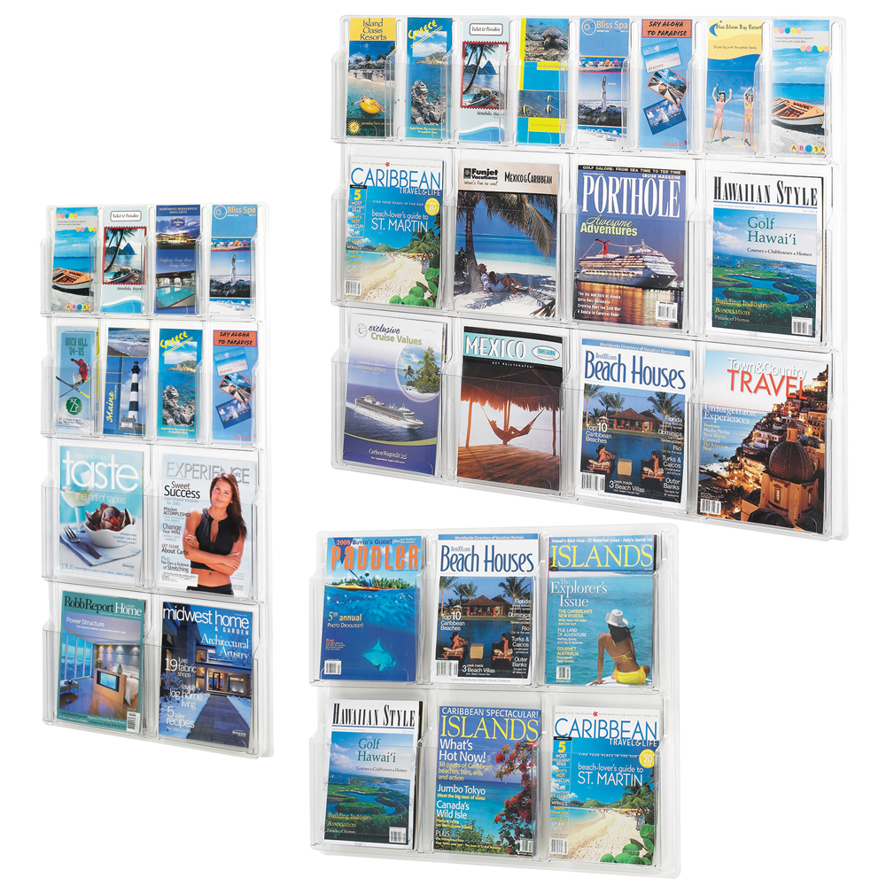 SAFCO® Reveal Clear Wall Literature Displays