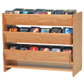 MAR-LINE® Cleveland Solid Oak CD/DVD Displays