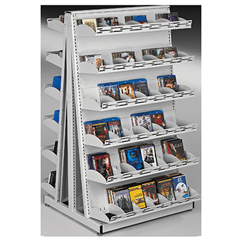 estey® Mobile A-Frame Multi-Media Display Shelving