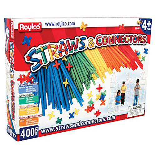 Roylco® Straws & Connectors™ - Primary Colors - 400/Pkg