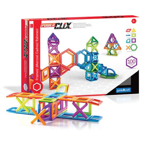PowerClix® Magnetic Building System Set - Colored Frames - 100 Pcs.