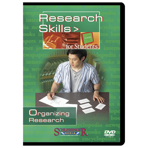 Organizing Research Research Skills for Students DVD