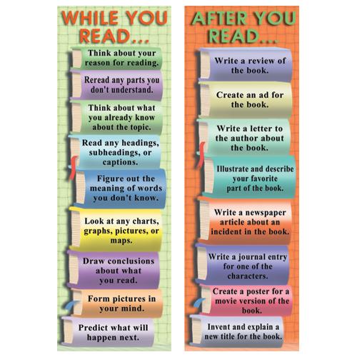 During & After Reading Smart Bookmarks - 36/Pkg