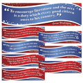 American Presidents Famous Quotes Bulletin Board Set