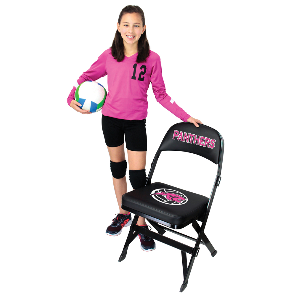 GV PRO Courtside Chairs - Folding Chair, 2 Color Silk Screen