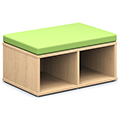 Russwood® Connector Benches - Rectangle Open Bench, Fabric