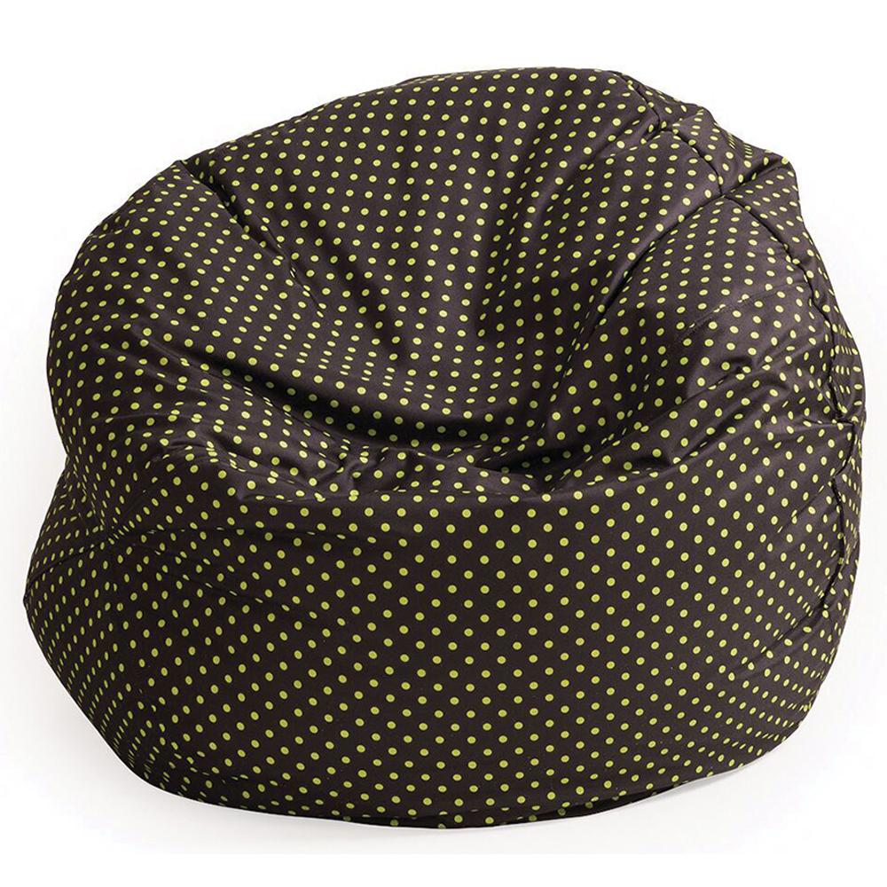 NOVUM® Comfy Kid Cushions  - Brown Green Poka Dots