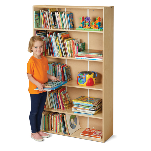 Jonti-Craft® Young Time® Adjustable Shelf Bookcases - 4 Shelf