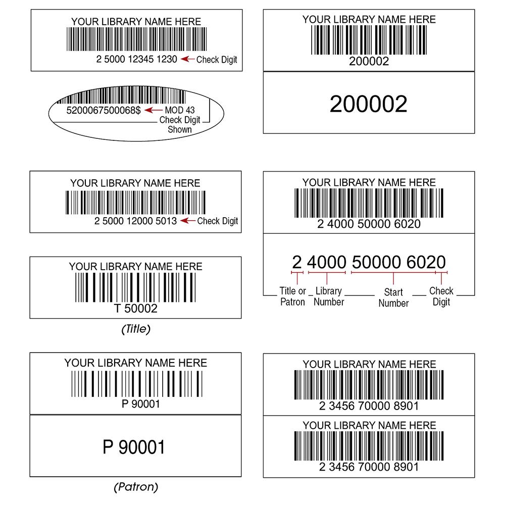 TLS Laser Bar Code Labels