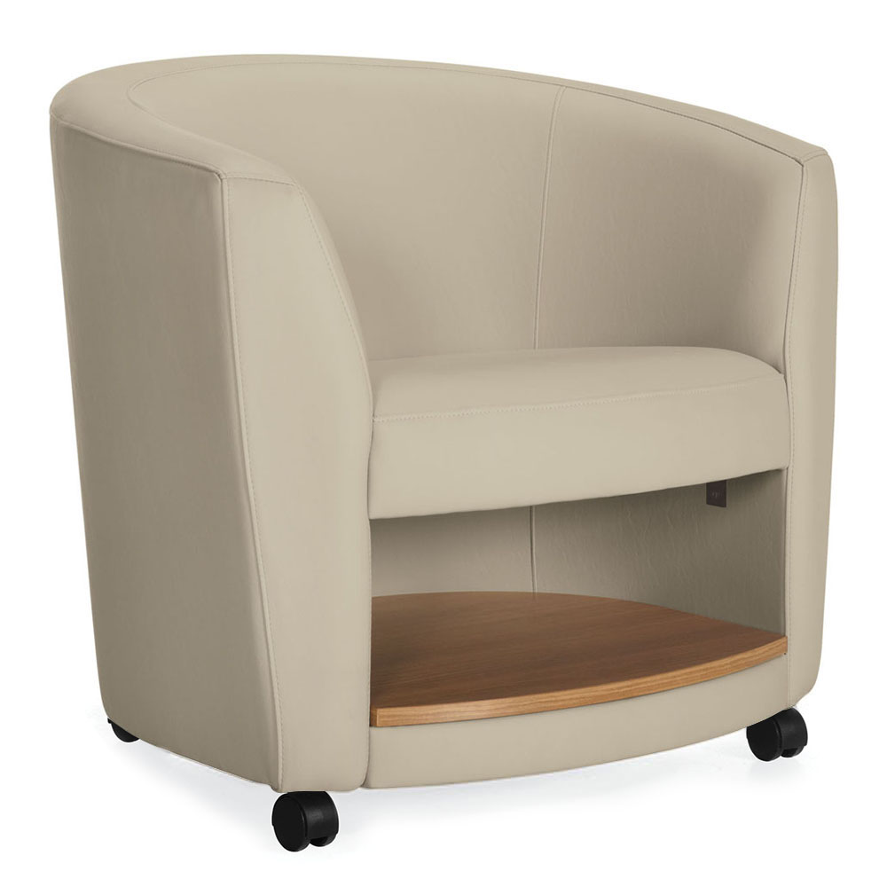 GLOBAL Sirena™ Lounge Seating - Chair with caster & Book Shelf