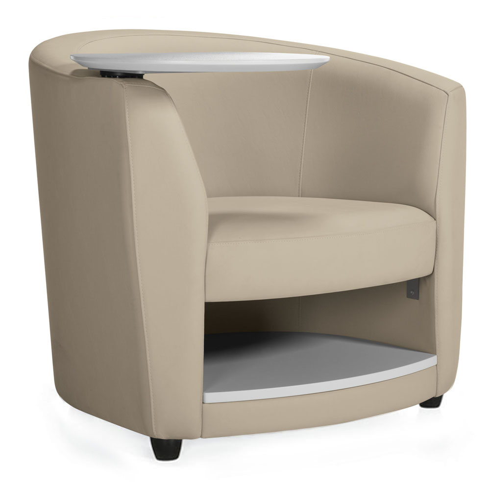 GLOBAL Sirena™ Lounge Seating - Lounge Chair with Tablet & Book Shelf Free Shipping!