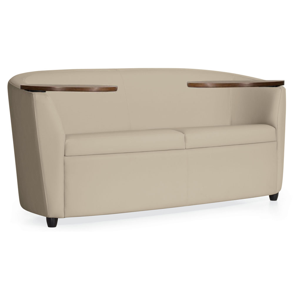 GLOBAL Sirena™ Lounge Seating - Loveseat with Tablets Free Shipping!