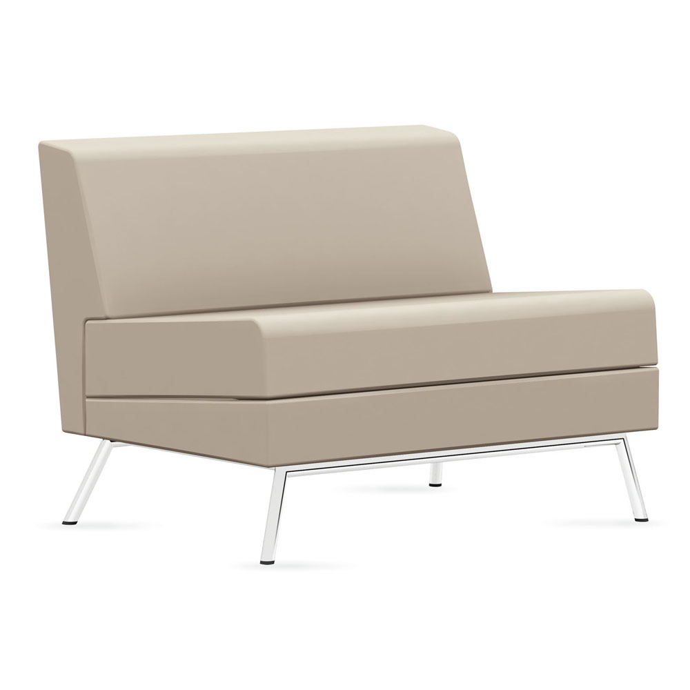 GLOBAL Wind™ Linear Lounge Seating - Armless Chair