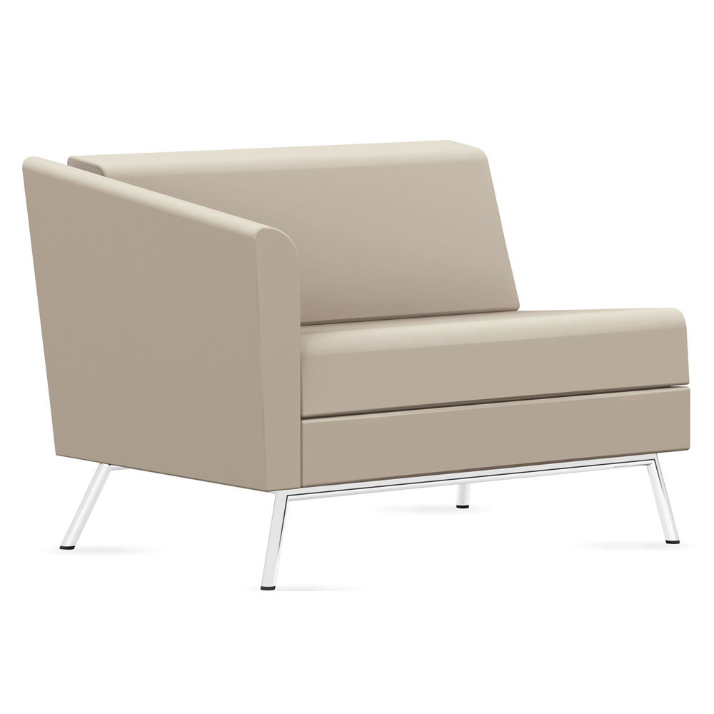 GLOBAL Wind™ Linear Lounge Seating - Right Arm Chair