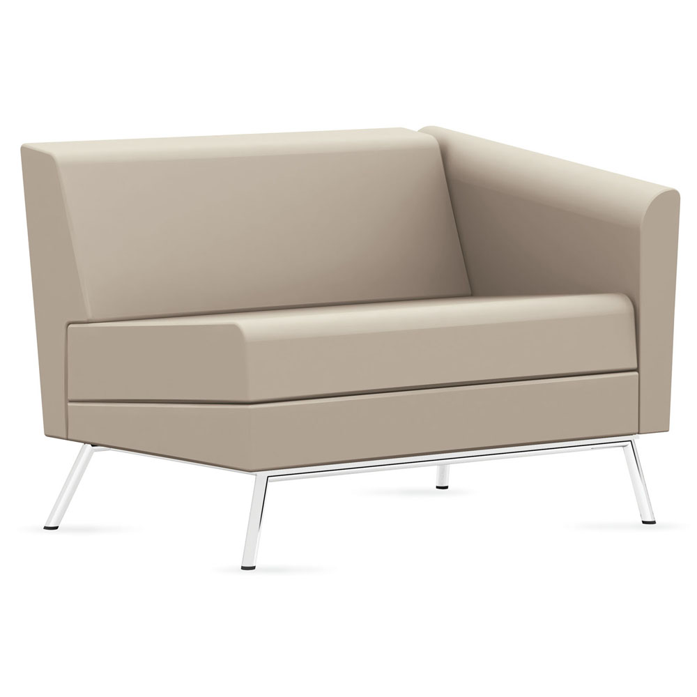 GLOBAL Wind™ Linear Lounge Seating - Left Arm Chair