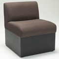 HPFI® STEPS Modular Lounge Seating - Armless One Seat Chair, Fabric