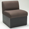 HPFI® STEPS Modular Lounge Seating - Armless One Seat Chair, Leather