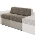 HPFI® STEPS Modular Lounge Seating - Armless Two Seat Chair, Fabric