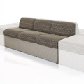 HPFI® STEPS Modular Lounge Seating - Armless Three Seat Chair, Leather
