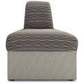 HPFI® STEPS Modular Lounge Seating - Inverted 45° Wedge Armless Chair, Fabric