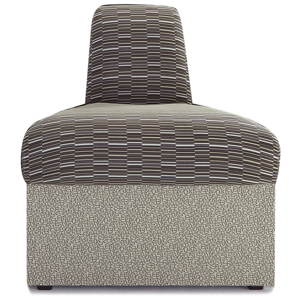 HPFI® STEPS Modular Lounge Seating - Inverted 45° Wedge Armless Chair, Leather