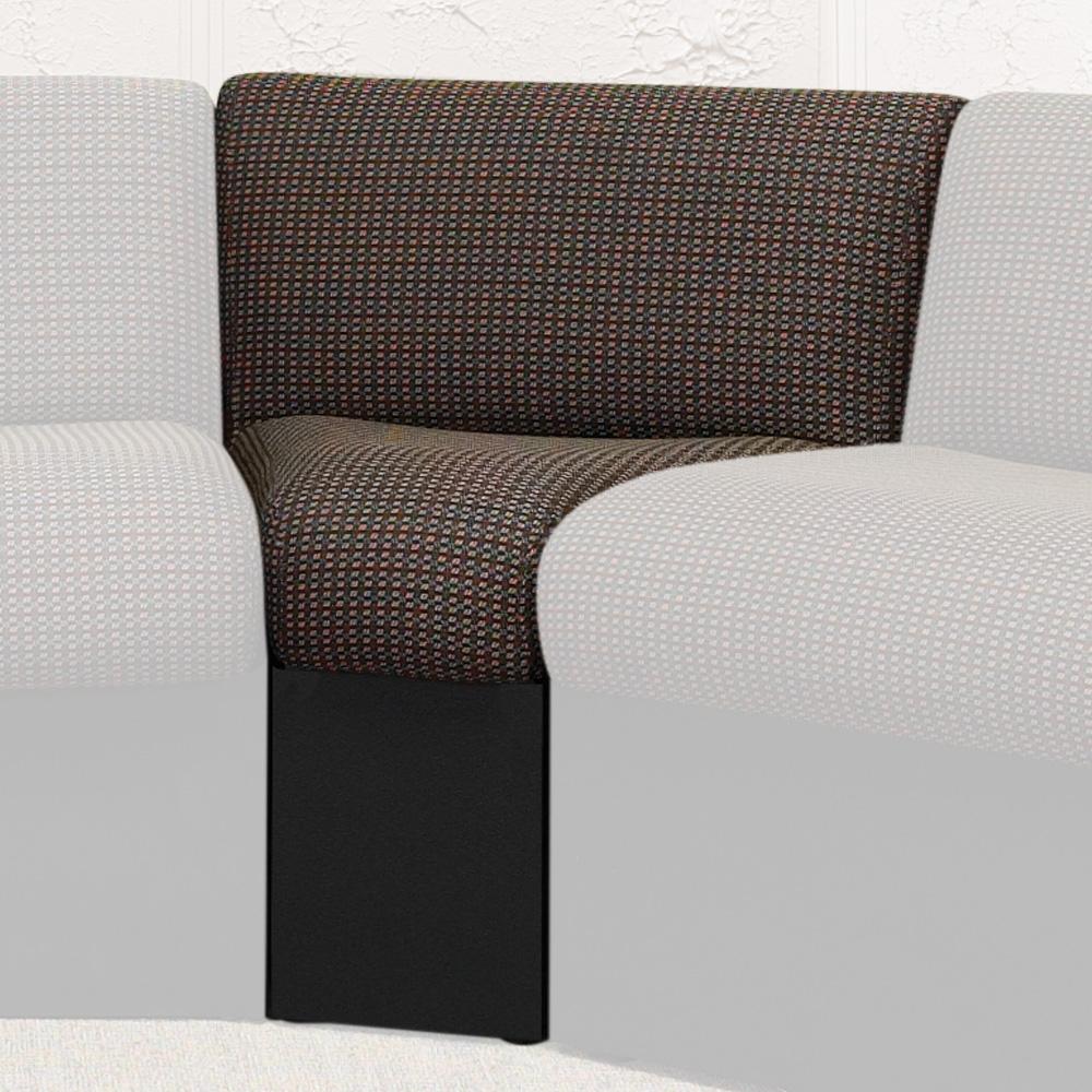 HPFI® STEPS Modular Lounge Seating - 45° Wedge Armless Chair, Leather